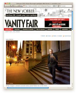 Vanity Fair – Features Wall Street 2 – The Return of Gordon Gekko